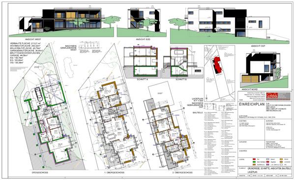 Einreichplanung Leistungen ATOS Architekt Heinrich Schuller